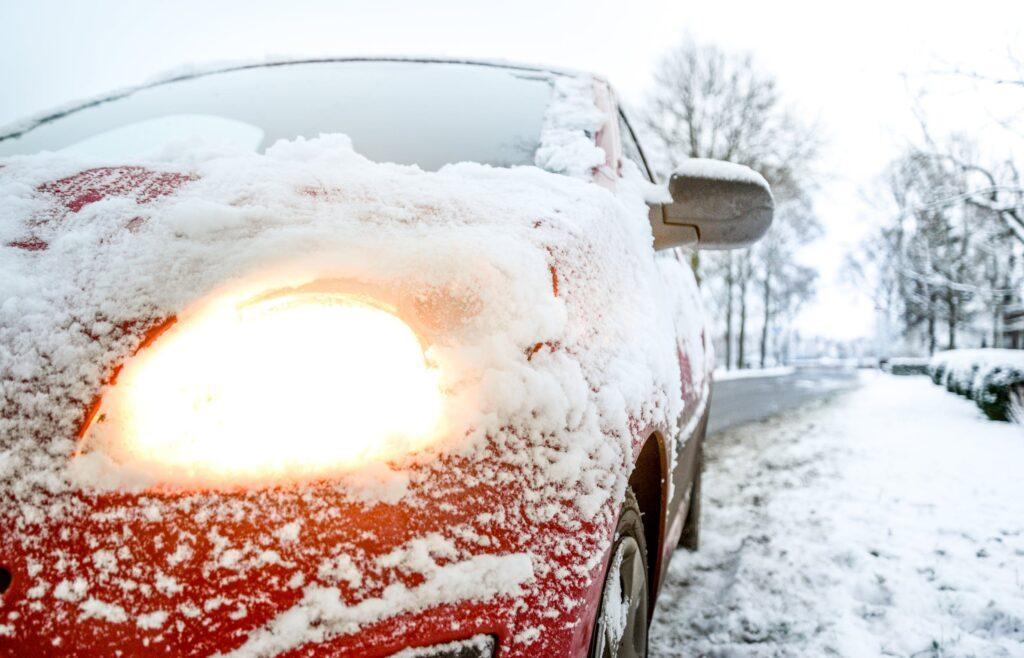 sneeuval en schade